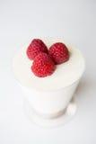 莓Chesse蛋糕杯 图库摄影