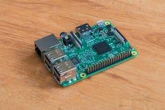 莓Pi 3式样B 小单板计算机 免版税库存图片