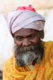 莫乌恩特阿布山的一个老印地安人  拍摄2015年10月28日印度莫乌恩特阿布 免版税库存图片