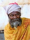 莫乌恩特阿布山的一个老印地安人  拍摄2015年10月28日印度莫乌恩特阿布 免版税库存照片