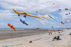 莫克姆风筝节日2014年6月 库存图片