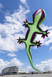 莫克姆风筝节日2014年6月 库存照片