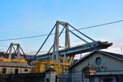 莫兰迪在东边的桥梁扶垛 免版税库存图片