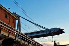莫兰迪在东边的桥梁扶垛 库存照片