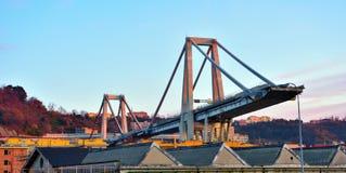 莫兰迪在东边的桥梁扶垛 免版税库存照片