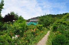 莫内庭院在吉韦尔尼 免版税库存图片