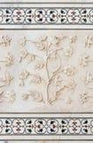 莫卧儿石头艺术,泰姬陵,印度 免版税图库摄影