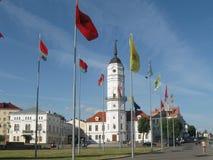 莫吉廖夫白俄罗斯城镇厅  免版税库存图片
