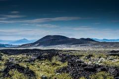 莫哈韦沙漠全国蜜饯火山岩床 免版税库存图片