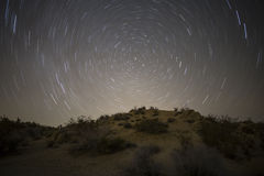 莫哈韦沙漠北极星晚上 免版税库存照片