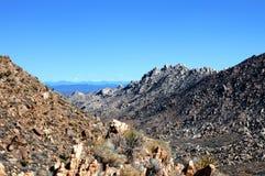 莫哈韦沙漠的看法 免版税图库摄影