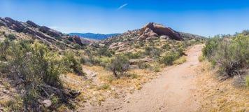 莫哈维沙漠全景  免版税库存图片