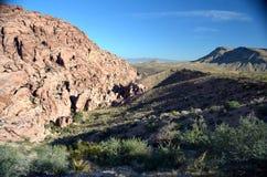 莫哈维沙漠山景,拉斯维加斯,内华达,美国 免版税库存图片