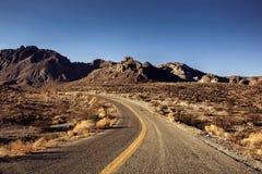 莫哈维沙漠高速公路 库存照片
