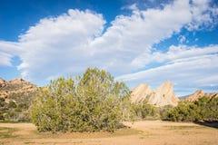 莫哈维沙漠Vasquez岩石 免版税图库摄影