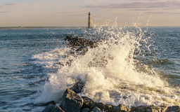 莫妮斯海岛灯塔 库存照片