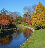 莫娜谷在秋天,克赖斯特切奇新西兰 库存图片