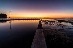 莫娜谷水池在黎明 库存照片