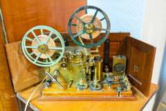 莫尔斯电通信机 免版税库存照片
