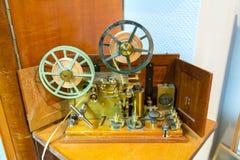 莫尔斯电通信机 免版税图库摄影