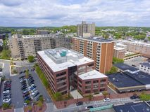 莫尔登市鸟瞰图,马萨诸塞,美国 库存照片