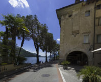 莫尔科特-卢加诺湖,卢加诺,提契诺州,瑞士,欧洲 库存照片