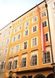莫扎特出生的著名议院,萨尔茨堡 图库摄影