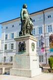 莫扎特纪念碑在萨尔茨堡 库存图片