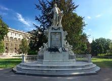 莫扎特纪念碑 库存图片