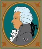 莫扎特纵向 免版税库存图片
