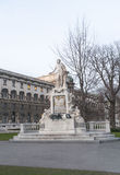 莫扎特雕象维也纳 图库摄影