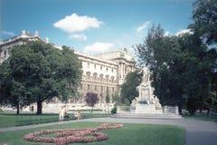 莫扎特,维也纳雕象  免版税图库摄影