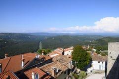 莫托文村庄在克罗地亚,欧洲 库存照片