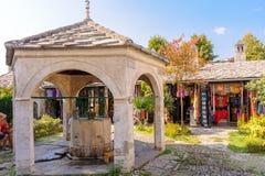 莫斯塔尔柯斯基Mehmed巴夏清真寺喷泉 库存图片