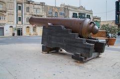 莫斯塔,马耳他- 2017年5月11日:在圆形建筑的老教规莫斯塔附近 免版税库存照片