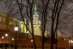 莫斯科、克里姆林宫和亚历山大视域从事园艺, 免版税库存照片