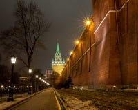 莫斯科、克里姆林宫和亚历山大视域从事园艺, 免版税图库摄影