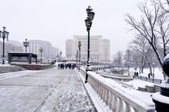 莫斯科。冬天风景 库存图片