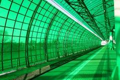 莫斯科中央圈子,是54 4公里长的轨道铁路 俄国 打开2016年9月10日 Delovoy Tsentr火车站 免版税库存图片