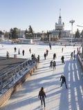 莫斯科会展中心滑冰场 库存照片