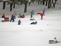 莫斯科俄国严重降雪冬天 库存图片