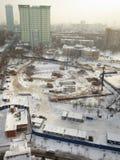 莫斯科俄国严重降雪冬天 库存照片