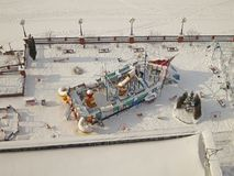 莫斯科俄国严重降雪冬天 图库摄影