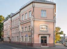 莫斯科俄国 在街道Nizhnyaya Maslovka和街道Raskovoy上的季度房子 库存图片