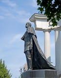 莫斯科俄国 对皇帝亚历山大二世的一座纪念碑-救星的,一张侧视图 库存图片