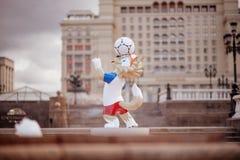 莫斯科俄国 2018 5月31日, 2018个FIF的正式吉祥人 库存图片