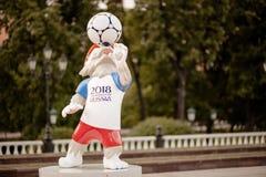 莫斯科俄国 2018 5月31日, 2018个FIF的正式吉祥人 库存照片