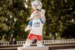 莫斯科俄国 2018 5月31日, 2018个FIF的正式吉祥人 图库摄影