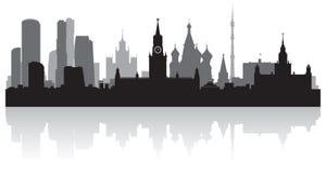 莫斯科俄罗斯市地平线传染媒介剪影 皇族释放例证