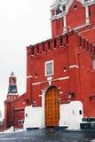 莫斯科克里姆林宫。 Spasskaya塔入口门。 库存图片